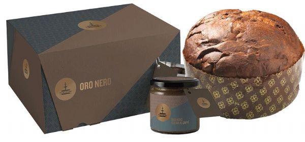 Fiasconaro Panettone Oro Nero Kg. 1 (Con Vasetto Crema Caffè)