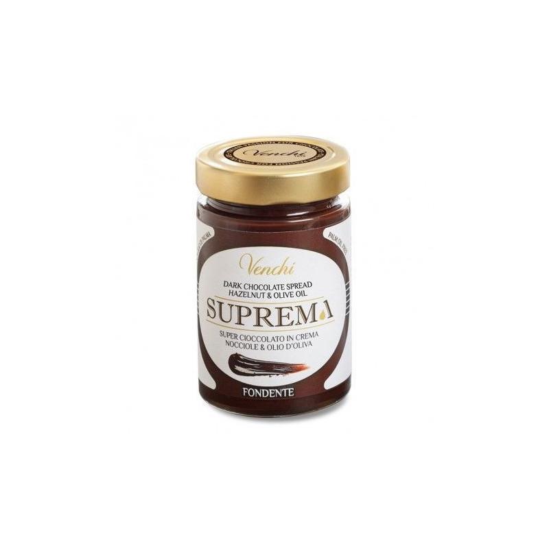 Venchi Suprema Crema Spalmabile Cioccolato Extra Fondente e Nocciole -