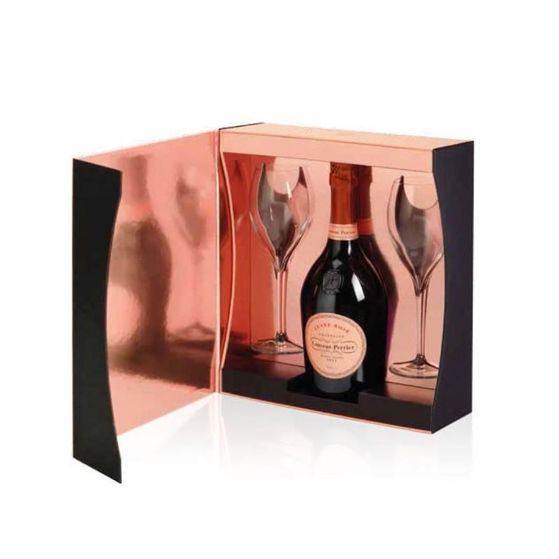 Laurent Perrier Champagne Cuvée Rosé Cofanetto con 2 Calici -