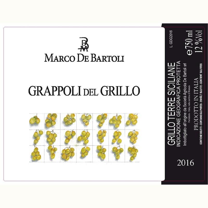 Marco De Bartoli Grappoli del Grillo 2016 -