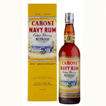 Rum Caroni Navy 90° Proof -