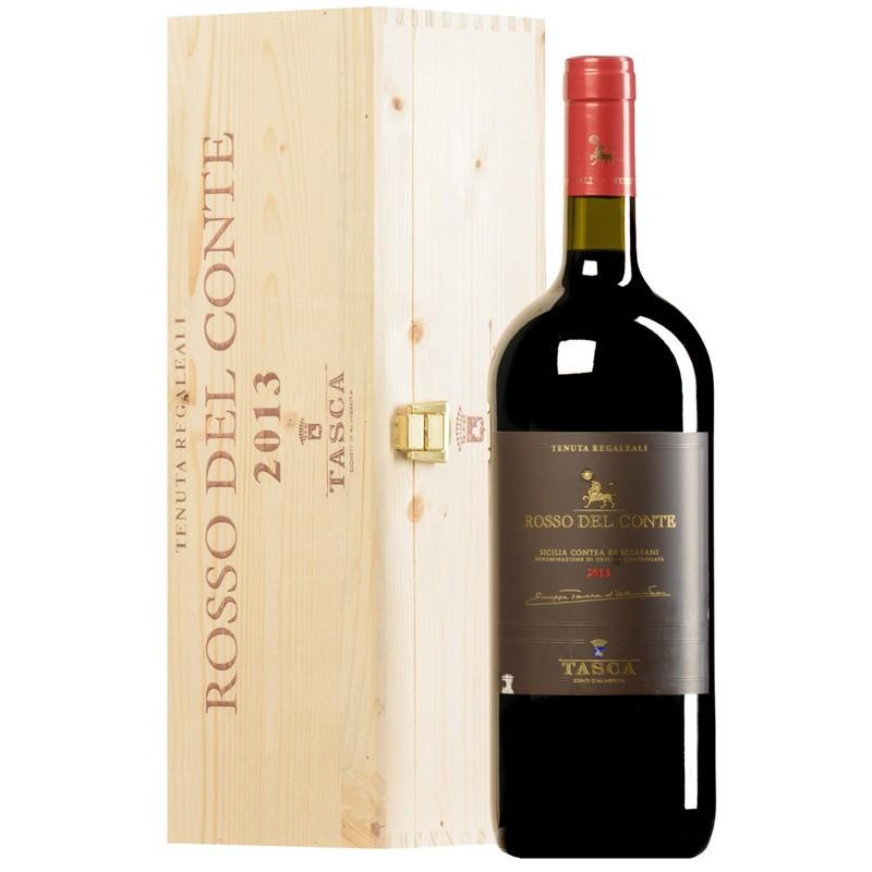 Tasca d'Almerita Rosso del Conte 2014 Magnum Cassa Legno -