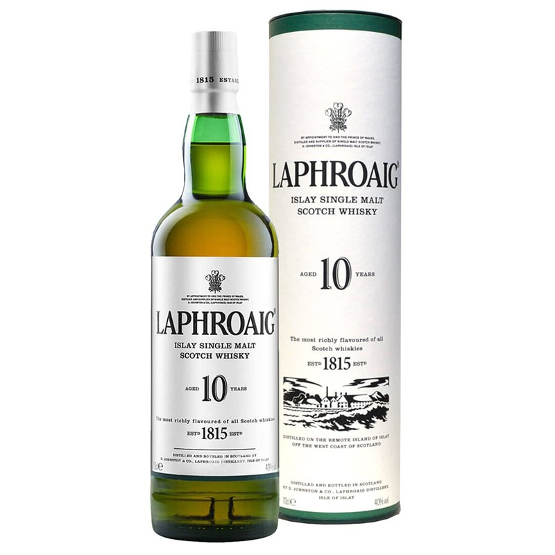 Laphroaig Single Malt Whisky 10 Years Old -