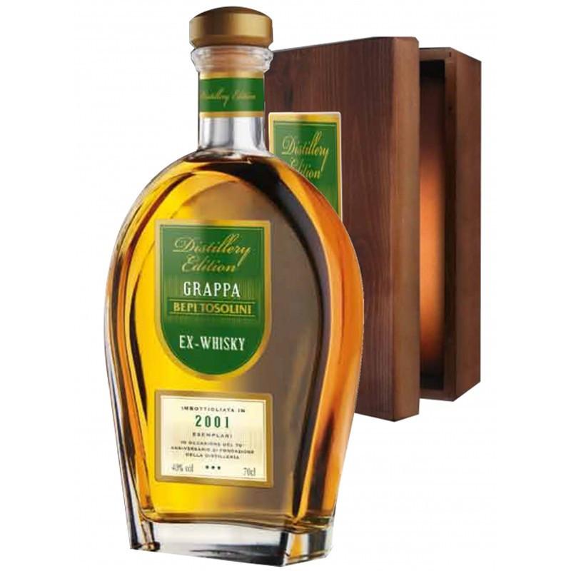 Tosolini Grappa Barrique Ex Whisky Astuccio Legno -