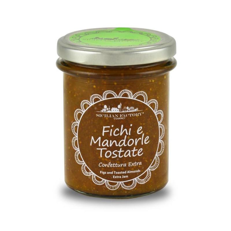Sicilian Factory Confettura Extra di Fichi e Mandorle tostate Gr. 240 -