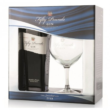 "Fifty Pounds London Dry Gin ""Gift Box"" -"