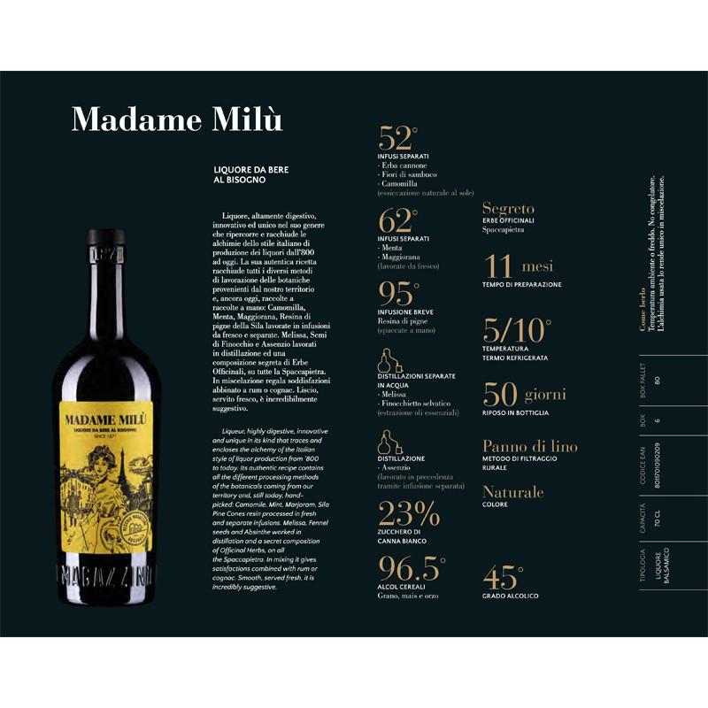 """Madame Milu Vecchio Magazzino Doganale """"Liquore da bere al bisogno"""" -"""