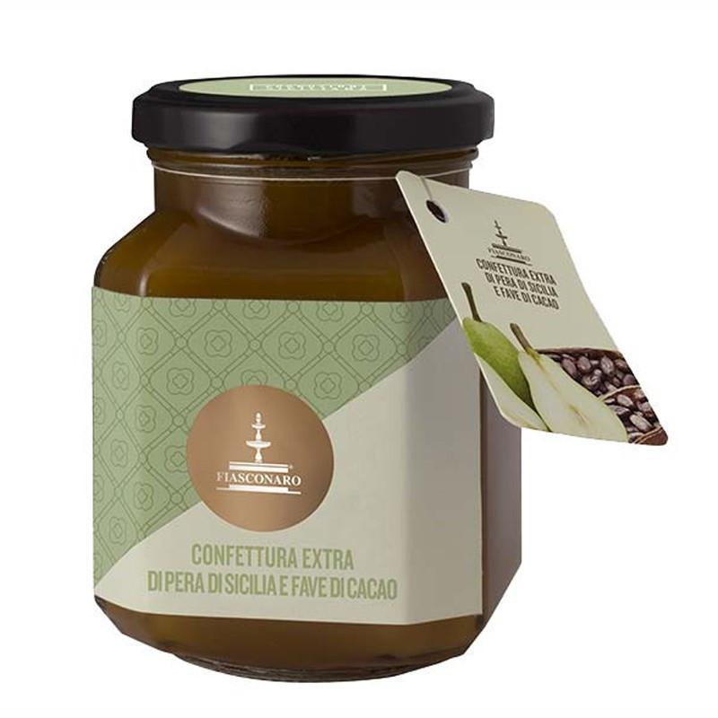 Fiasconaro Confettura Extra di Pera di Sicilia con Fave di Cacao Gr. 360 -