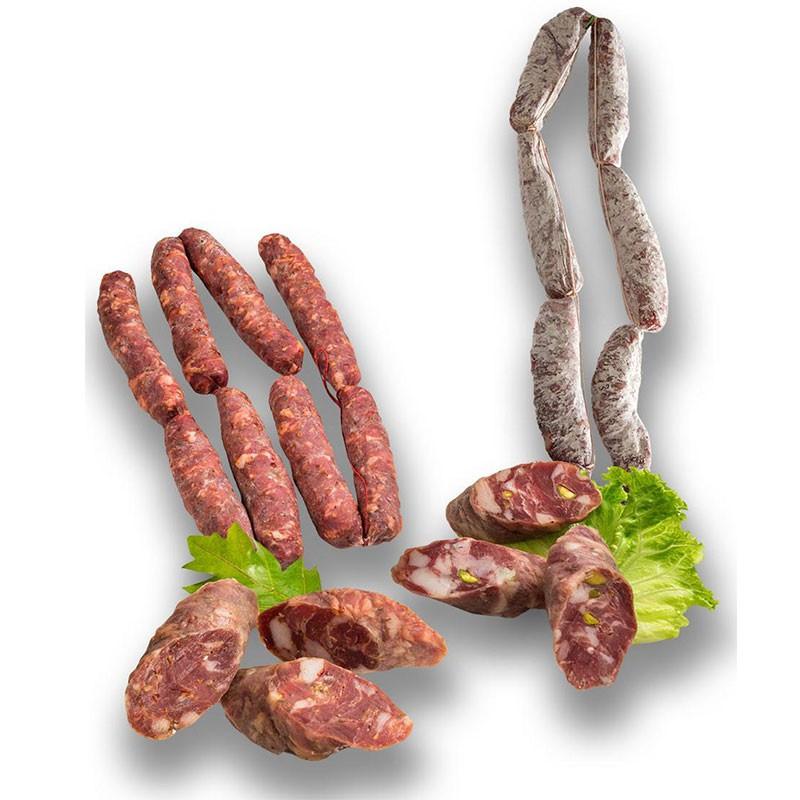 Salsiccia Piccante/Pistacchio S. Angelo Gr. 350 ca Salumifico Caputo