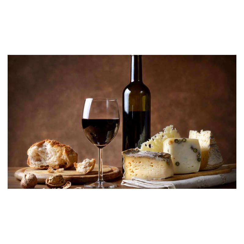 De Luxe Tasting box Formaggi ,vino e marmellata. -