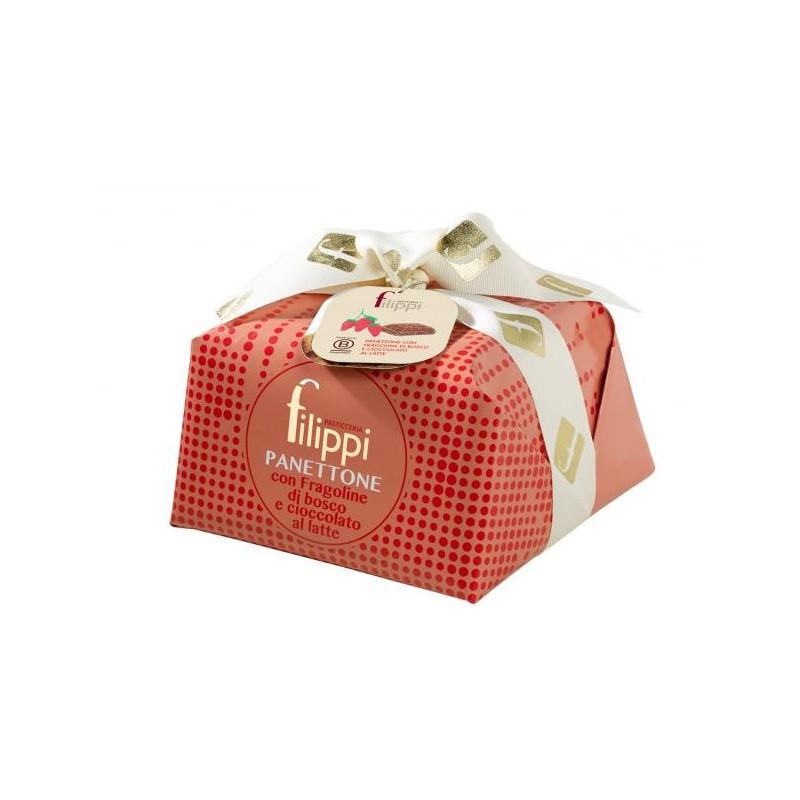 Filippi Panettone con fragoline di bosco e cioccolato al latte -