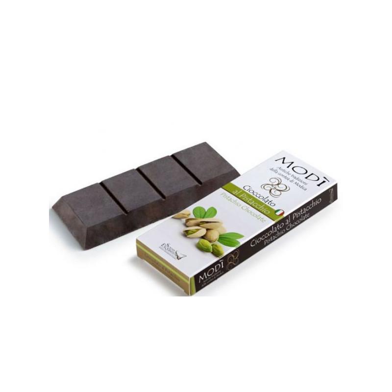 Cioccolato di Modica Puro al Pistacchio Gr. 100 -