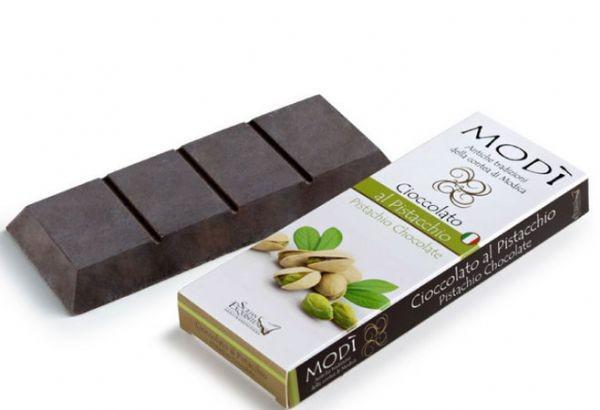 Cioccolato di Modica Puro al Pistacchio Gr. 100