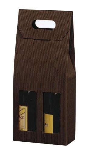 Astuccio 2 Bottiglie Marrone